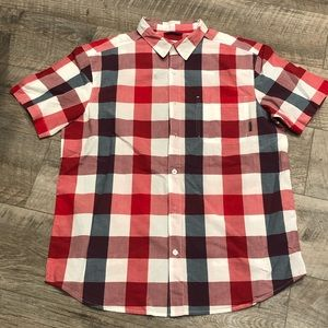 Columbia Short Sleeve Men's Plaid Button Up - NEW!
